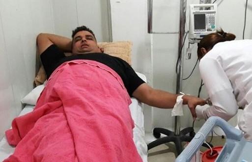 Rolando Ochoa fue llevado a urgencias a una clínica de la ciudad de Cartagena