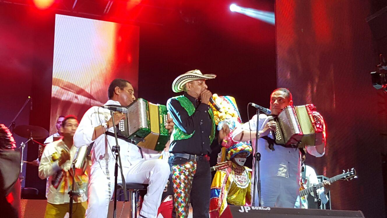 homenaje al vallenato; el Cocha Molina, Hugo Carlos y farid Ortiz Granados