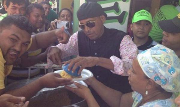 Farid Ortiz celebró su cumpleaños con el pueblo