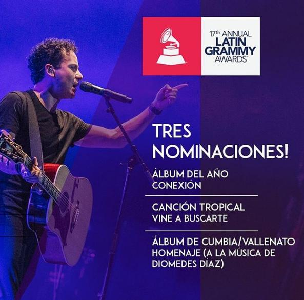 Fonseca, tres nominaciones a los Grammy Latino