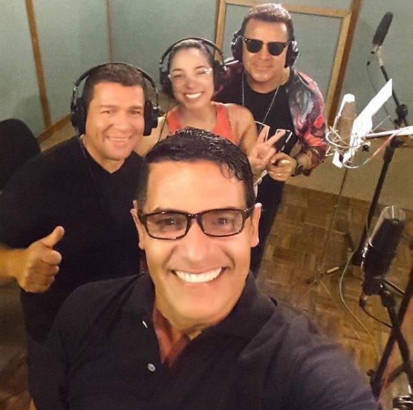 Skarleth grabando para Peter Manjarrés y Juancho de la espriella