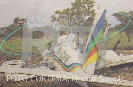 magen de los restos de la avioneta, publicada por Noticias RPTV.