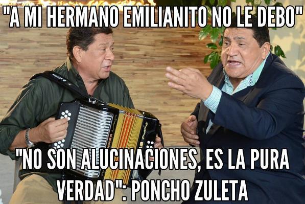 """Poncho Zuleta: """"A mi hermano Emilianito no le debo"""""""