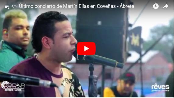Aparecen todos los vídeos de la última presentación del gran Martín Elías