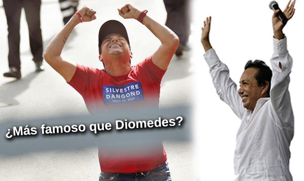 Silvestre Dangond es más famoso que Diomedes Díaz