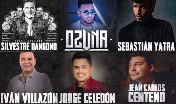 Nómina de artistas que estará presente en el festival vallenato 2019