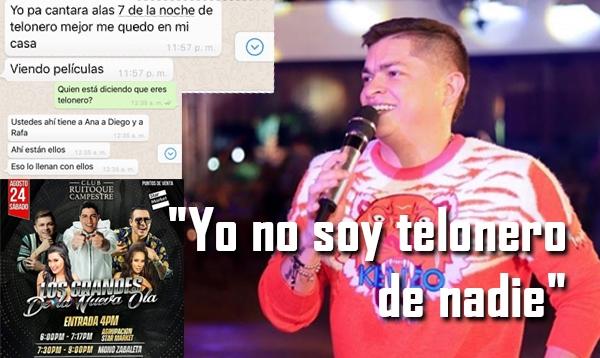 """""""Yo no soy telonero de nadie""""; Mono Zabaleta"""