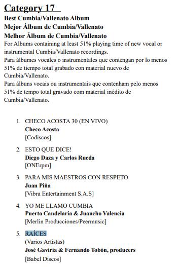 ¡Diego Daza nominado a los Grammy Latin por su albúm 'Esto que dice'!