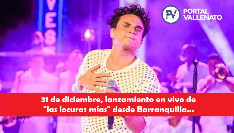 Silvestre Dangond despedirá el año con un concierto virtual el 31 de diciembre desde Barranquilla.