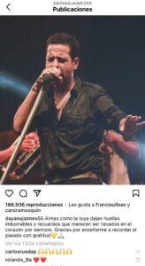 Dayana Jaime en instagram